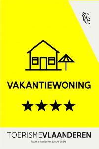 Toerisme Vlaanderen 4 sterren Brechts Boshuisje